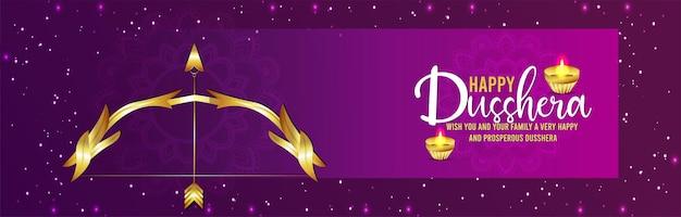 Happy dussehra celebration background with vector illustration