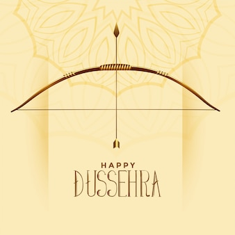 Happy dussehra celebration greeting indian festival card