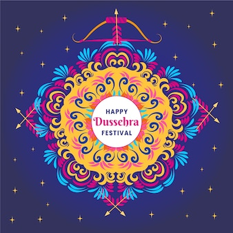 Happy dussehra and colourful design