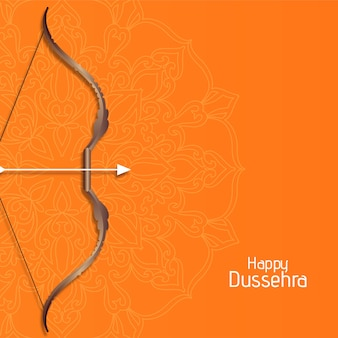 Happy dussehra cultural festival background vector
