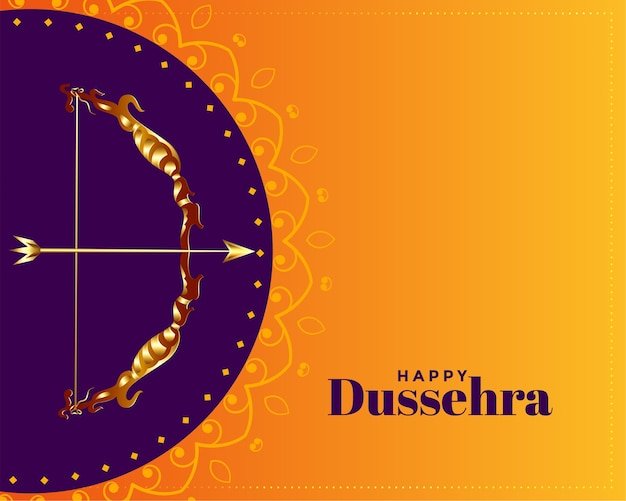 Happy dussehra decorative greeting card design