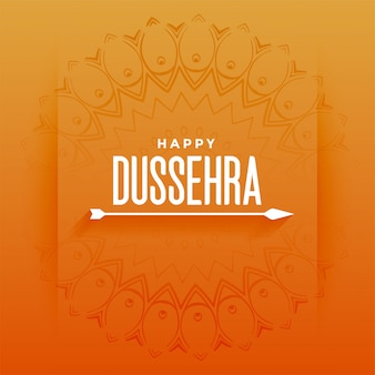Happy dussehra festival card with arrow