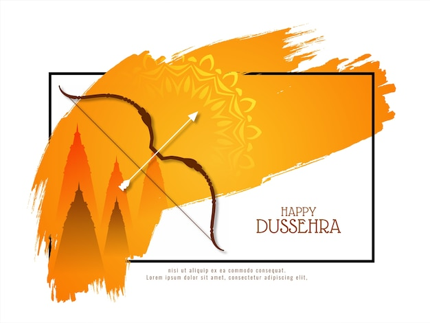 Happy dussehra festival celebration beautiful background vector