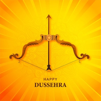 Happy dussehra festival greeting card background
