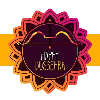 Happy dussehra festival greeting card