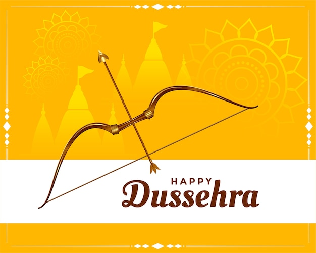 Happy dussehra festival wishes greeting card