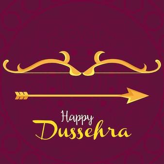 황금 화살과 함께 행복한 dussehra 축제