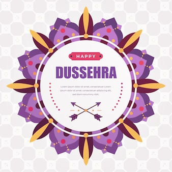 Happy dussehra flat design background