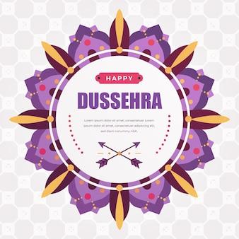 Happy dussehra flat design background