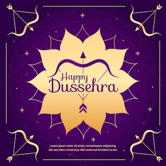 Happy dussehra in flat design
