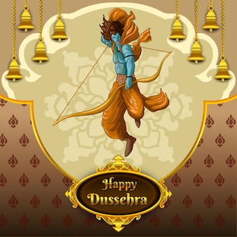 Happy dussehra greeting
