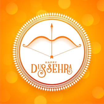 Happy dussehra hindu festival wishes greeting card design