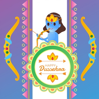 Happy dussehra illustration