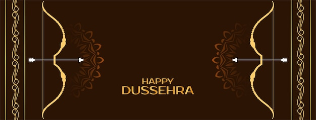 Happy dussehra indian festival celebration banner design