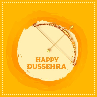 Happy dussehra indian festival wishes card