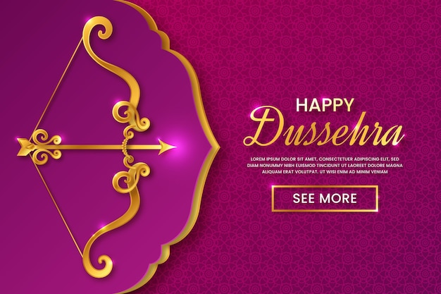 Happy dussehra in paper style