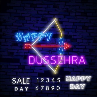 Happy dussehra sale promotion advertisement template banner