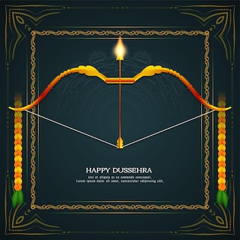 행복 dussehra 전통적인 힌두교 축제 배경 벡터