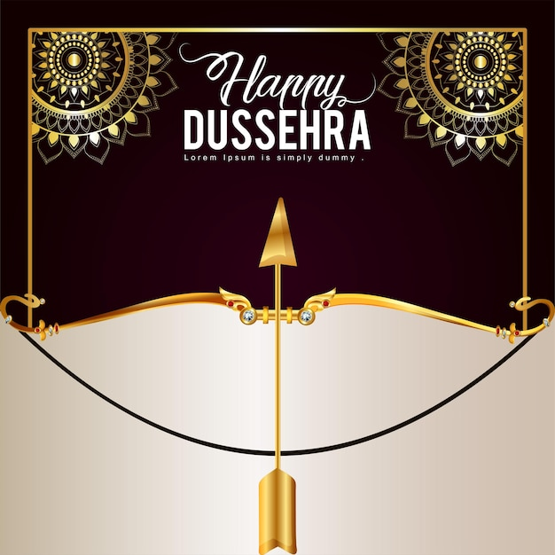 Happy dussehra vector illustration and background