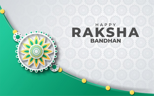 Happy eaksha bandhan greeting card