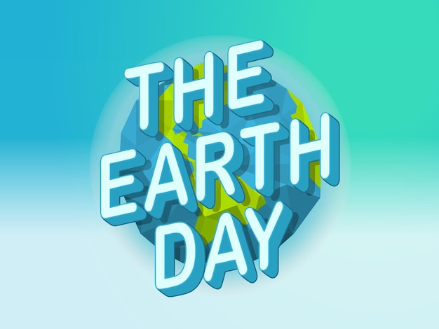 Happy earth day concept
