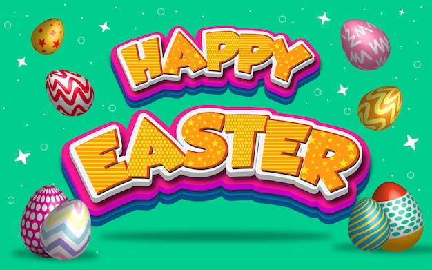 Happy easter 3d