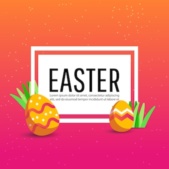 Happy easter background with colorful egg,