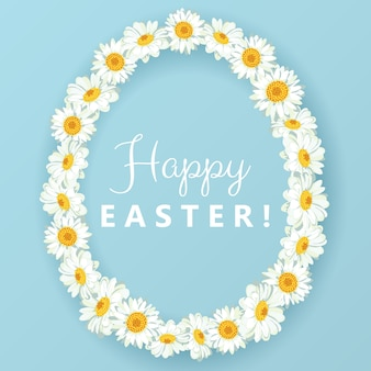 Happy easter background with daisy chain