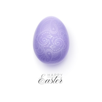 Happy easter background with decorative easter egg