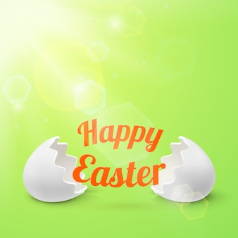 Happy easter, banner template. illustration