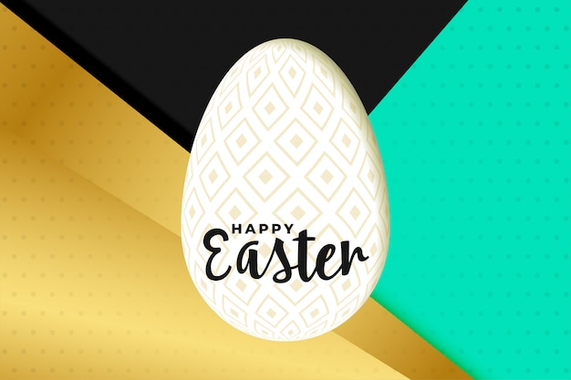 Happy easter card in golden style