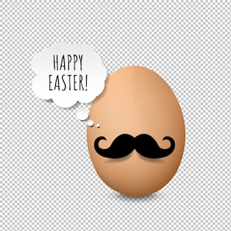 Happy easter card transparent background