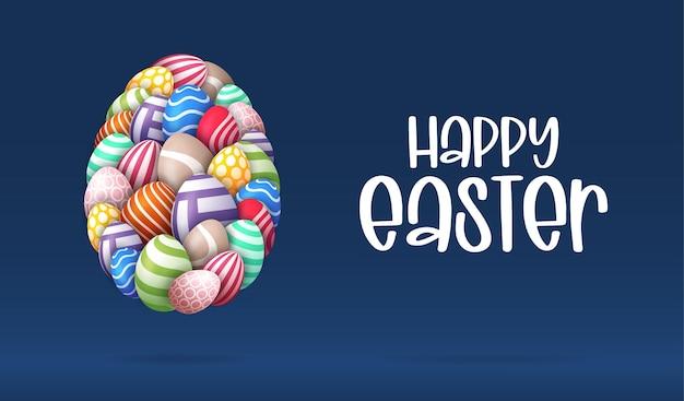 계란으로 행복 한 부활절 카드입니다.