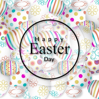 Happy Easter card with pattern background