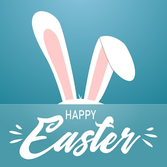 Happy easter cartoon style vector card