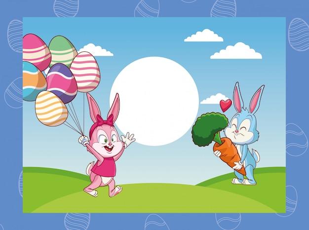Happy easter cartoons