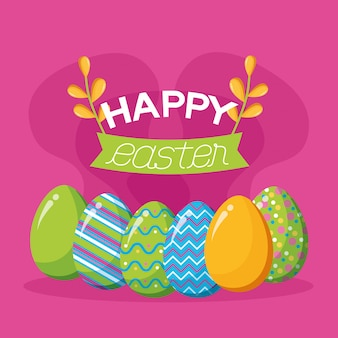 Happy easter celebration illustration