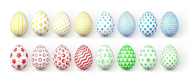 Счастливой пасхи. цветные пасхальные яйца