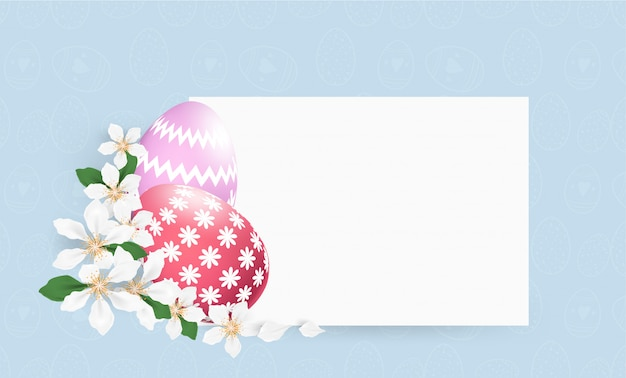 Happy easter colourful eggs  background