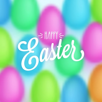 Happy easter concept with colorful eggs pattern