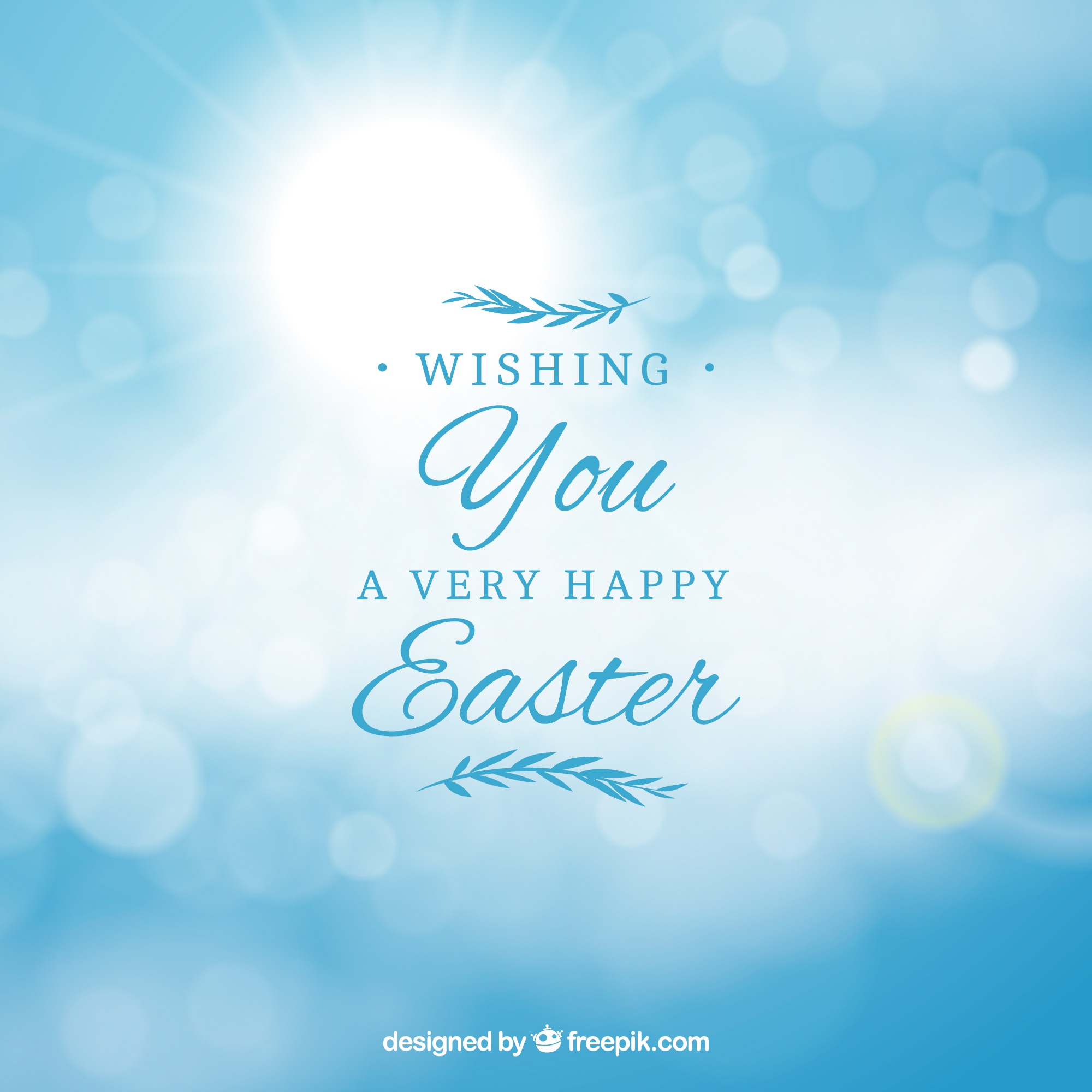 Happy easter day background in blurred style