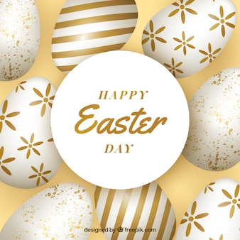 Happy easter day background in realistic style