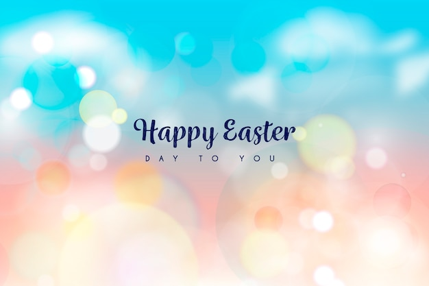 Happy easter day bokeh design