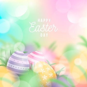 Happy easter day event illustration