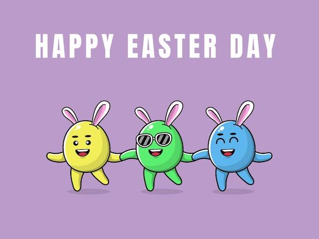 계란으로 행복 한 부활절 날 인사말