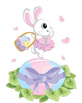 幸せなイースターの日、青い背景にカラフルな休日の卵。販売広告、背景、グリーティングカード、ポスターのベクトルに使用できます