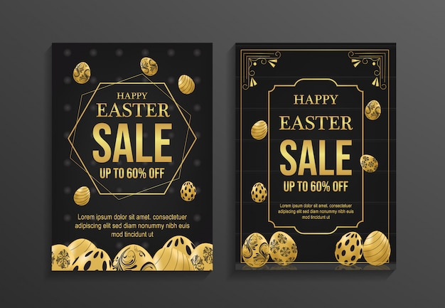 Happy easter day sale flyer template