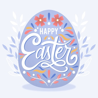 Счастливого пасхального дня с красочным яйцом