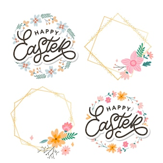 Happy easter day with frame set