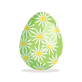 Happy easter egg icon christian holiday symbol with different textures patterns and festive decorati...